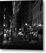 New York City Street - Night Metal Print by Vivienne Gucwa