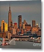 New York City Sundown On The 4th Metal Print by Susan Candelario