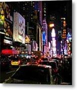 New York City - Times Square 002 Metal Print by Lance Vaughn