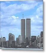 New York City Twin Towers Glory - 9/11 Metal Print