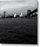 New York City - Two Bridges Metal Print