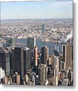 New York City - View From Empire State Building - 121218 Metal Print by DC Photographer