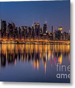New York City West Side Morning Twilight I Metal Print