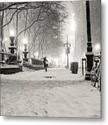 New York City Winter Night Metal Print by Vivienne Gucwa