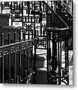 New York City Wrought Iron Metal Print by Rona Black