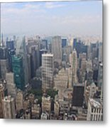 New York From Above Metal Print