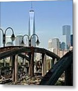 New York From New Jersey - Image 1633-01 Metal Print