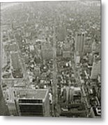 New York From The Trade Towers Metal Print