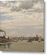 New York Harbor From Bedloe's Island Metal Print
