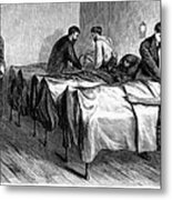 New York: Heatstroke, 1876 Metal Print