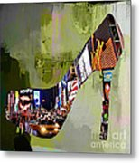 New York In A Shoe Metal Print