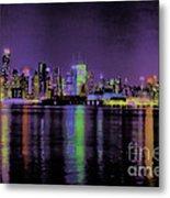 New York In Color Metal Print