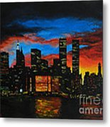 New York In The Glory Days Metal Print