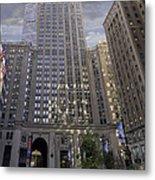 New York In Vertical Panorama Metal Print