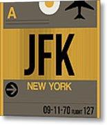 New York Luggage Tag Poster 3 Metal Print