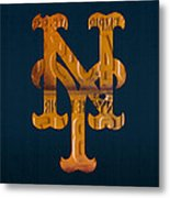 New York Mets Baseball Vintage Logo License Plate Art Metal Print