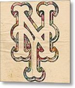 New York Mets Poster Art Metal Print