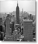 New York Moody Skyline  Metal Print