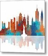 New York New York Skyline  Metal Print