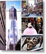 New York Nyc Collage Metal Print