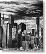 New York Pano Bw I Metal Print