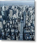 New York Panoramic View From Empire Metal Print