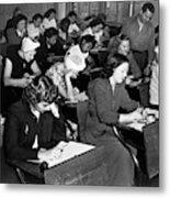 New York Police Exam, 1947 Metal Print