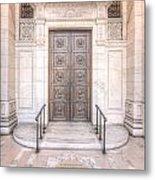 New York Public Library Entrance I Metal Print
