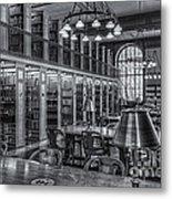New York Public Library Genealogy Room II Metal Print