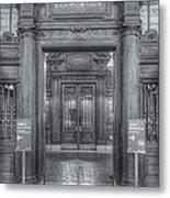 New York Public Library Main Reading Room Entrance II Metal Print
