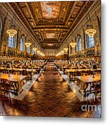 New York Public Library Main Reading Room Vii Metal Print