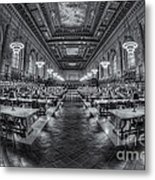 New York Public Library Main Reading Room Viii Metal Print