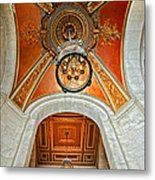 New York Public Library Ornate Ceiling Metal Print