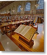 New York Public Library Rose Main Reading Room  Metal Print