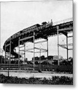 New York Railroad Bridge Metal Print