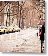 New York Rain - Greenwich Village Metal Print