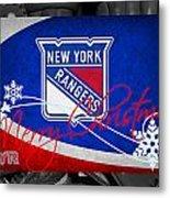 New York Rangers Christmas Metal Print