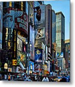New York Rush Hour Metal Print