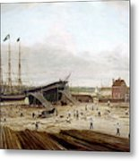 New York Shipyard, 1833 Metal Print