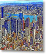 New York Skyline 20130430 Metal Print by Wingsdomain Art and Photography