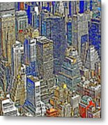 New York Skyline 20130430v5-square Metal Print