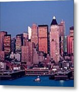 New York Skyline At Dusk Metal Print