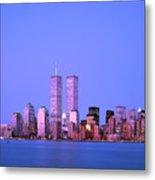 New York Skyline Before 11th September Metal Print