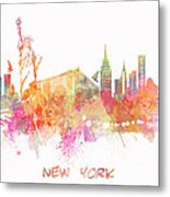 New York Skyline City Metal Print