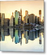 New York Skyline Sunset Metal Print