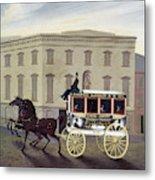 New York Stagecoach Metal Print