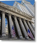 New York Stock Exchange Wall Street Nyse  Metal Print