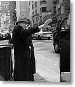 New York Street Photography 27 Metal Print by Frank Romeo