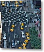 New York Taxi Rush Hour Metal Print