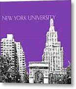 New York University - Washington Square Park - Purple Metal Print